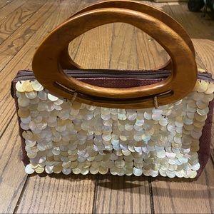 Handbags - Canvas Sequin Handbag